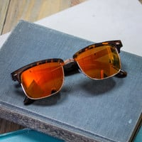 American Sunset Sunglasses in Tortoise and Yellow