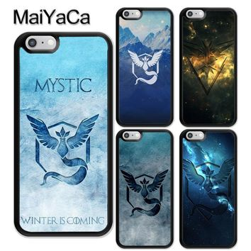 MaiYaCa s Go Pokeball Team Mystic Phone Case Skin Shell For iPhone 6 6S 7 8 Plus X 5 5S SE Rubber Soft Cell Housing CoverKawaii Pokemon go  AT_89_9