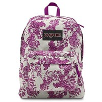 Jansport Black Label Superbreak Backpack, Berrylicious Vintage Floral Canvas