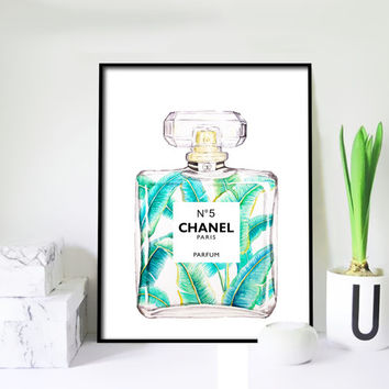 Chanel No.5 Perfume Poster PRINTABLE FILE - Chanel poster, Fashion art, Dorm room,Chanel perfume, Gift for her, oversize art, Dorm room