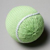 Organic Tennis Ball Rattle Baby Toy