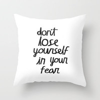 Fear Throw Pillow by Sjaefashion | Society6