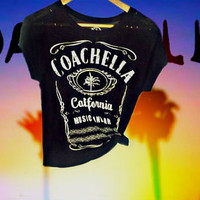 Distressed Coachella California Music and Art Tee **Only one available**
