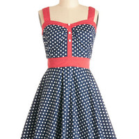 ModCloth Nautical Mid-length Sleeveless A-line Captain's Blog Dress
