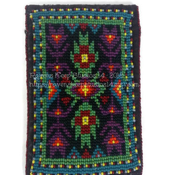 Native American Style Leather Look Felt Wallet, Felt Pouch for Mobile Phones, iPhone Pouch / Case, Smart Phone Case, Credit Card