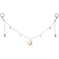 Salted Caramel Heart BCR Nipple Chain MADE WITH SWAROVSKI ELEMENTS | Body Candy Body Jewelry
