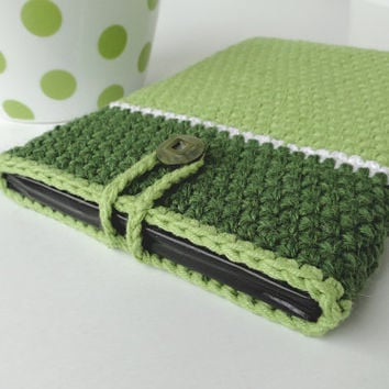 Pistachio Green iPad mini case, Green Nexus case, Green case, iPad mini cover, Samsung Galaxy case, Kindle cover, crochet case, mobile cover