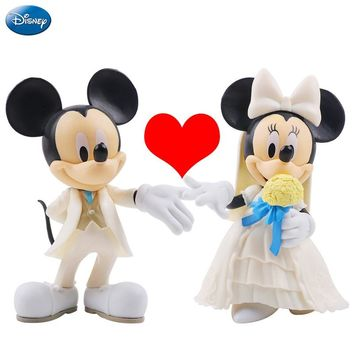 5Pcs Disney Action Figure Mickey Mouse Minnie Princess Donald Duck Kawaii Doll Birthday Present Children Toy Collection Boy