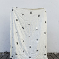 "caroline z hurley — Linen Heavy Weight Blanket ""Angela"""