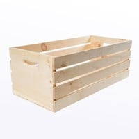 Houseworks, Ltd. Crates and Pallet - X-Large Wood Crate - 27in x 12.5in x 9.5in-94621 - The Home Depot