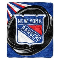 New York Rangers Sherpa Blanket (Ran Team)
