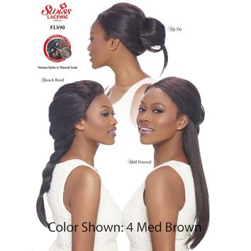 SWISS 360 WHOLE LACE WIG, 100% HAND-TIED WIG, STRAIGHT (FLS90)