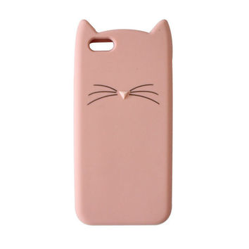 "3D Cute Cartoon Cat Case Cover for iPhone 7 7 plus 6 6s 4.7 inch 6 6s Plus 5.5"" Soft Silicone Phone Case -0320"