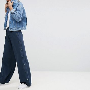 ASOS TALL Tailored Popper Side Wide Leg Pant at asos.com