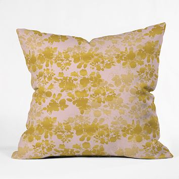 Gabi Audrey Gold Throw Pillow