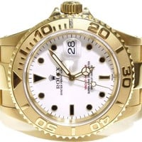 Rolex Yacht-Master 18k Yellow Gold White Dial Mens Beautiful 16628 Watch