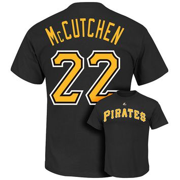 Majestic Pittsburgh Pirates Andrew McCutchen Player Name and Number Tee - Big & Tall, Size: