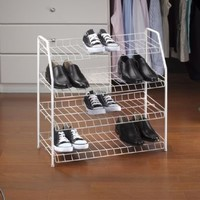 Kennedy Home Collections Multipurpose Shoe Rack - 4 Tier