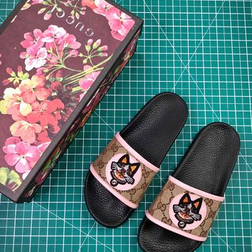 Gucci Leather Slide With Bow Fashion Style 2 - Best Online Sale