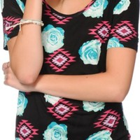 Empyre Jemma Floral Tribal T-Shirt