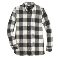 J.Crew Womens Flannel Shirt In Buffalo Check