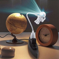 Mini White Flexible Spaceman Astronaut USB Tube LED Night Light Lamp For Computer Laptop PC Notebook