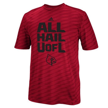 Louisville Cardinals adidas Player Training Performance T-Shirt - Red