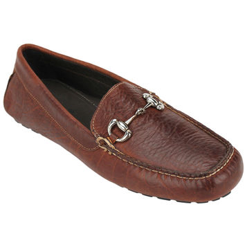 Laramie Bit Loafer in Walnut Bison Leather by Country Club Prep
