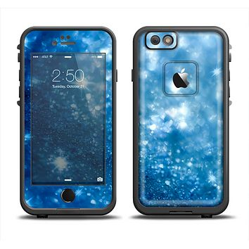 The Unfocused Blue Sparkle Apple iPhone 6 LifeProof Fre Case Skin Set
