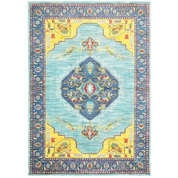 Oriental Weavers Joli 564L4 Blue/ Yellow Oriental Area Rug