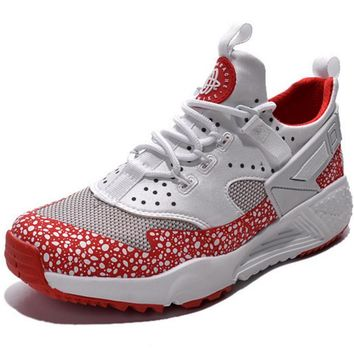 NIKE warm casual shoes sports running shoes White red