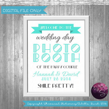 Art Deco Photo Booth Sign for Wedding (Printable File Only) Printable Signs; DIY Wedding Sign Art Deco