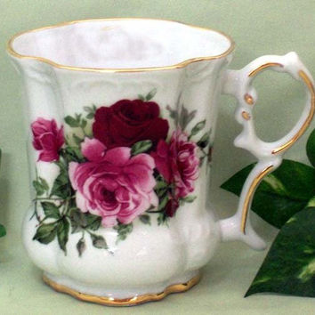 Set of 2 Summer Rose Victorian Tankards