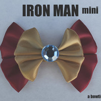 iron man mini hair bow