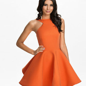 Strapless Dress Summer Off Shoulder One Piece Dress = 5825577473