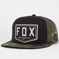 Fox Haste Mens Snapback Hat Black One Size For Men 22923410001