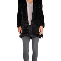 Unreal Fur A-Cappella coat in Black