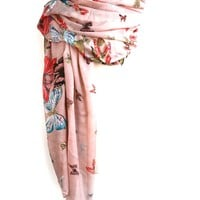 Butterflies of Transformation Printed Scarf