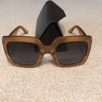 ONETOW gucci sunglasses women glitter square gold GG 0053/s 006 54/25/140