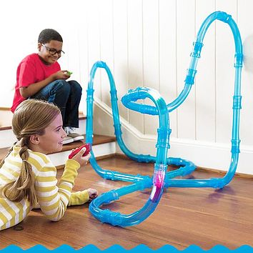 RC toy car children tubes Racing trucks Remote control speed tubes car race track