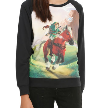 The Legend Of Zelda: Ocarina Of Time 3D Link & Epona Pullover Top