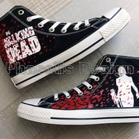 Daryl Dixon The Walking Dead Painted Shoes Custom Shoes