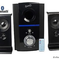 NEW SUPERSONIC 2.1 CH BLUETOOTH MULTIMEDIA SPEAKER SYSTEM w/ REMOTE & USB/SD