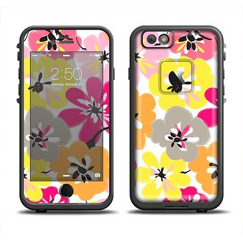 The Bright Summer Brushed Flowers  Apple iPhone 6 LifeProof Fre Case Skin Set