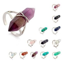 Chakra Healing Crystal Stone Rings (13 Colors)