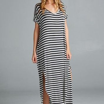 Nantasket Beach Striped Dress