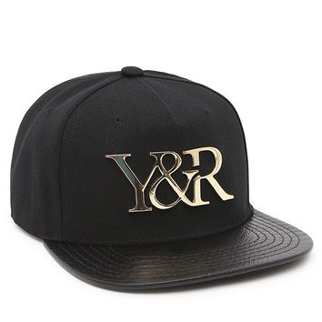 Young & Reckless Gold Plate 24K Snapback Hat - Mens Backpack - Black - One