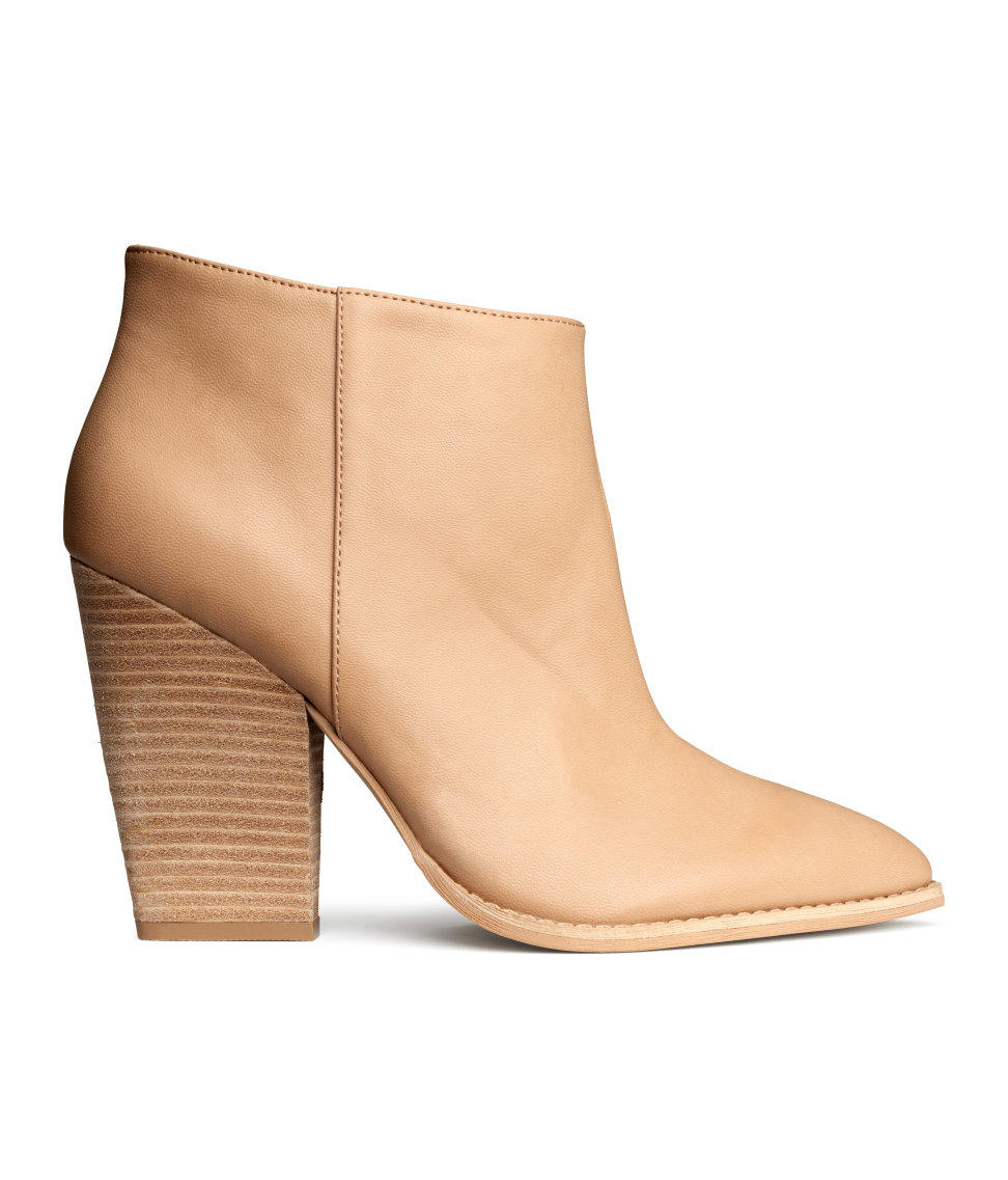 h m ankle boots beige ladies from h m moda. Black Bedroom Furniture Sets. Home Design Ideas