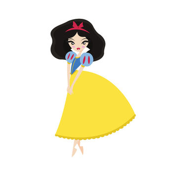 Snow White Art Print by Paint Me Pink