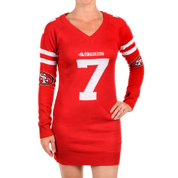 San Francisco 49ers Colin Kaepernick Official NFL Sweater Dress by Klew